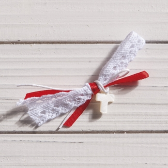 CHRISTENING CROSS IVORY LACE PRS1
