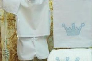 CHRISTENING BESTMEN BOYS SET CROWN