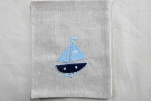 CHRISTENING FAVOR LINIEN IVORY BAG SHIP MKR 03025003 1