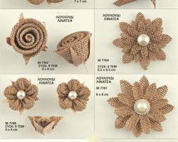DECORATIVE FLOWERS BURLAP ADO