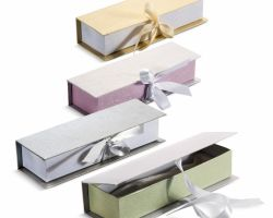 DECORATIVE PAPER BOX W SATIN GAMOS-BAPTISI.GR