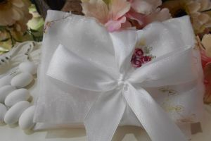FAVOR ENVELOPE FLORAL ORGANZA BOY