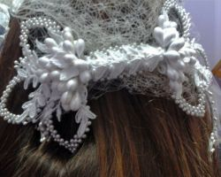 WEDDING BRIDE ACCESSORIZE HEAD PEARL MRG1