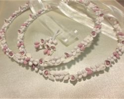 WEDDING CROWN PORCELAIN IVORY OLD PINK 2