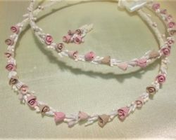 WEDDING CROWN PORCELAIN OLD PINK BEIGE