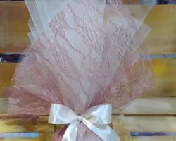 WEDDING FAVOR OLD PINK LACE TULLE