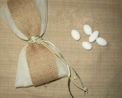 WEDDING FAVOR TULLE BURLAP SATIN ROPE