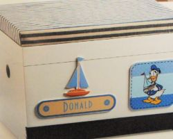 CHRISTENING BOX FOR CLOTHES DONALD PRS
