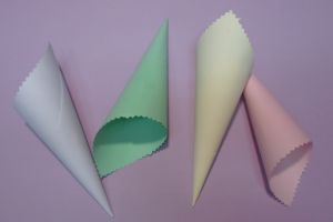 DECORATIVE PAPER COLORED FUNNEL
