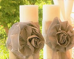 WEDDING CANDLES LINIEN FABRIK ZEBRA FLOWERS
