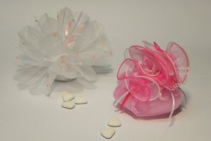 WEDDING FAVORS ORG TULLE FABRIK FUCSHIA