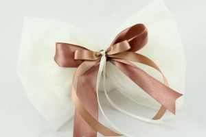 WEDDING FAVOR TULLE BOW SATIN RIBBONS